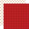 Carta Bella Hello Christmas 12x12 Paper: Red Plaid