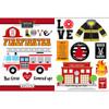Scrapbook Customs Sticker: Firefighter