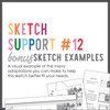 * DIGITAL DOWNLOAD * Allison Davis for SG | Sketch Support Bonus Sketch Examples #12
