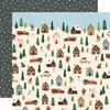 Winter Cottage 12x12 Paper: Winter Wonderland