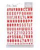 Elle's Studio Puffy Alphabet Stickers: Red