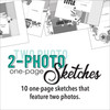 * DIGITAL DOWNLOAD * TEN SKETCHES - Two Photos | One Page Layouts