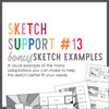 * DIGITAL DOWNLOAD * Allison Davis for SG | Sketch Support Bonus Sketch Examples #13