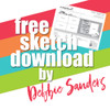 Debbie Sanders for SG Freebies: Wild and Free Crop | Two Page Sketch