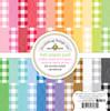 Doodlebug Rainbow Petite Print Buffalo Check/Woodgrain 6x6 Paper Pad