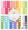 Doodlebug Rainbow 12x12 Petite Print Paper Pack: Buffalo Check/Woodgrain