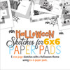 """* DIGITAL DOWNLOAD * Allison Davis for SG   Halloween Sketches for 6 x 6"""" Paper Pads: One-Page Sketches"""