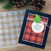 """PhotoPlay Say It With Stamps: Gingham 6""""x6"""" Stencil"""