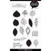 """PhotoPlay Say It With Stamps: Fall Leaves 4""""x6"""" Icon Stamp"""