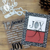 "PhotoPlay Say It With Stamps: Peace/Joy 4""x6"" Word Stamp"