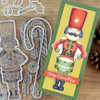 """PhotoPlay Say It With Stamps: #9 Nutcracker/Candy Cane 6""""x8"""" Icon stamp slimline"""