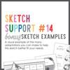 * DIGITAL DOWNLOAD * Allison Davis for SG | Sketch Support Bonus Sketch Examples #14