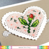 Waffle Flower Die: Stitchable Pinking Heart