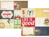 Simple Stories Summer Fresh 12x12 Paper: 4x6 Journaling Card Elements #2