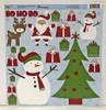 Reminisce Santa's Workshop 12x12 Sticker Sheet