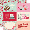 Simple Stories Sweet Talk 12x12 Paper: 4x6 Elements