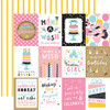 Echo Park Magical Birthday Girl 12x12 Paper: 3x4 Journaling Cards