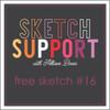 * DIGITAL DOWNLOAD * Allison Davis for SG Freebies Sketch Support   Free Sketch #16