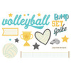 """Simple Stories """"Simple Pages"""" Page Pieces: Volleyball"""