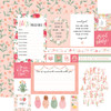 Echo Park Welcome Baby Girl 12x12 Paper: Multi Journaling Cards