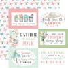 Carta Bella Flower Garden 12x12 Paper: 6x4 Journaling Cards