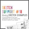 * DIGITAL DOWNLOAD * Allison Davis for SG | Sketch Support Bonus Sketch Examples #18