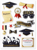 Forever In Time Pop-Up Foil Stickers: Graduation