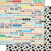 Scrapbook Customs Graduation 12x12 Paper: Colorful Graduation Words