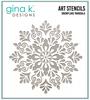 Gina K. Designs 6x6 Stencil: Snowflake Mandala