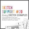 * DIGITAL DOWNLOAD * Allison Davis for SG   Sketch Support Bonus Sketch Examples #20