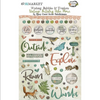 49 and Market Vintage Artistry Wishing Bubbles & Trinkets Epoxy Coated Stickers: Hike More