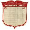 Pink Paislee Old School 12x12 Diecut Paper: Members Only