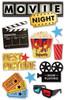 Paper House 3D Sticker: Movie Night