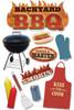 Paper House 3D Sticker: BBQ