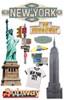 Paper House 3D Sticker: New York City