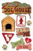 Paper House 3D Sticker: Dog