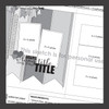 * DIGITAL DOWNLOAD * ONE SKETCH - Large and Small Banners | Two Page Layout