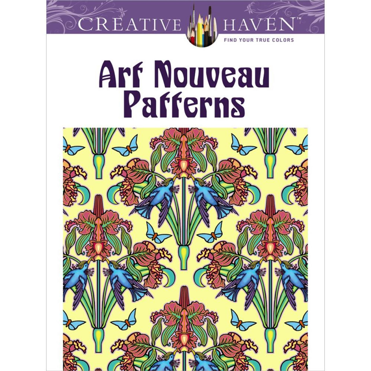 - Creative Haven Coloring Book: Art Nouveau Patterns - Scrapbook