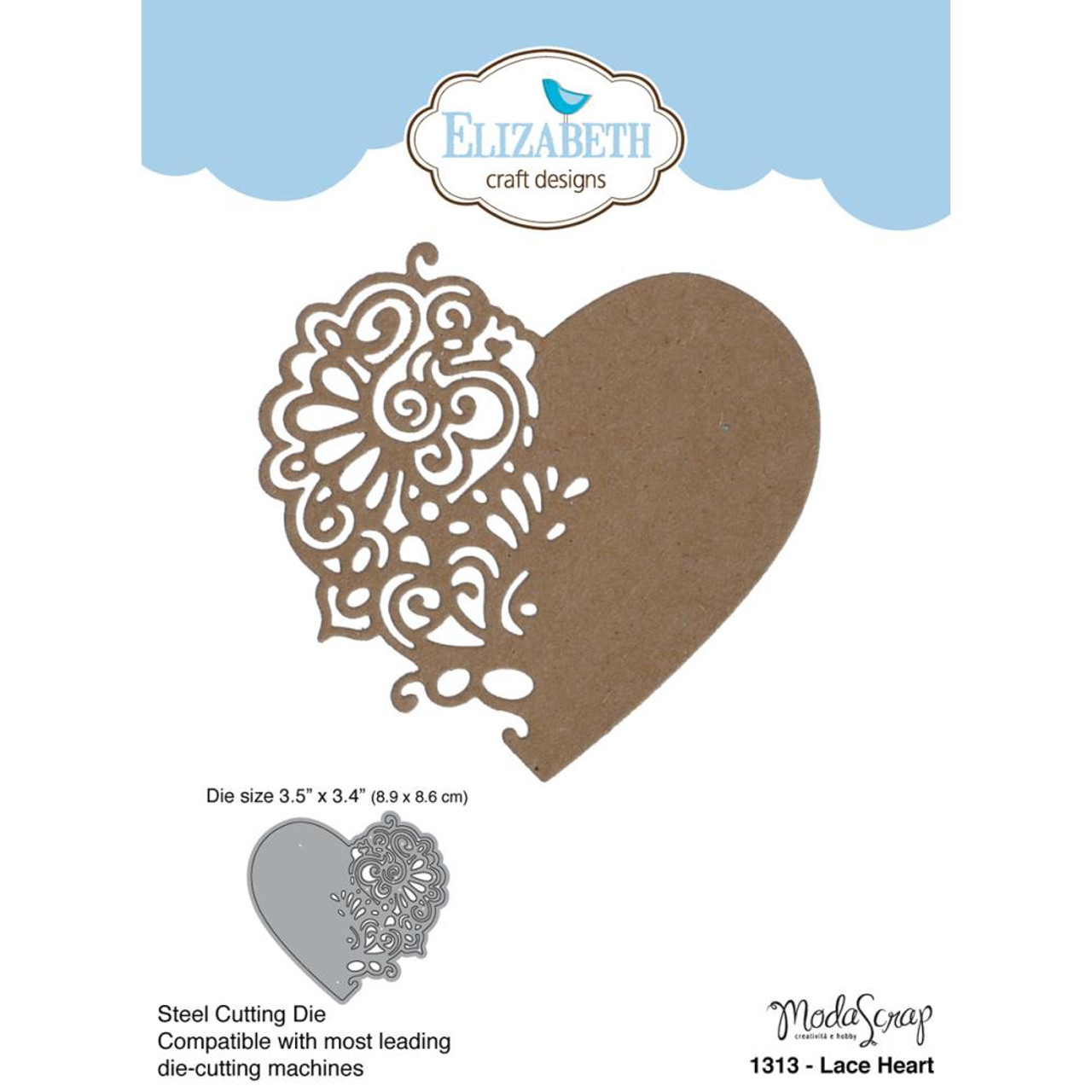 Elizabeth Craft Designs Dies Lace Heart Scrapbook Generation