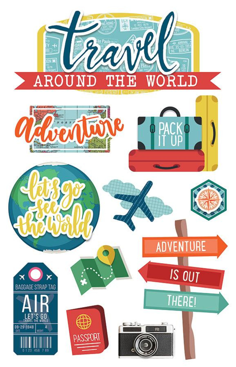 Paper House 3D Stickers: Around the World