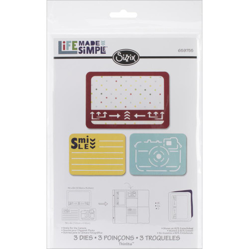 Sizzix Thinlits Dies: Smile For The Camera (3/pkg)