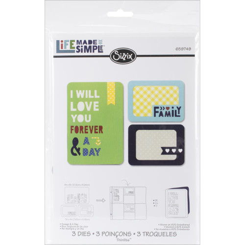 Sizzix Thinlits Dies: Forever & A Day (3/pkg)