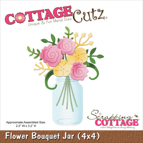 Cottage Cutz: Flower Bouquet Jar (4x4)