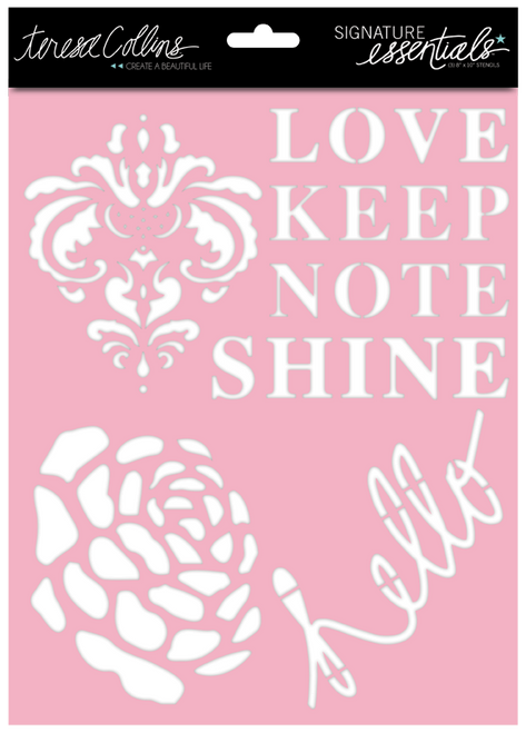 CLEARANCE | Teresa Collins Signature Essentials: 8x10 Stencil - Shine