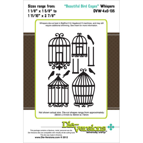 "Die-Versions Whispers: Beautiful Bird Cages, 1.625"" To 2.875"""