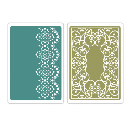 Sizzix Textured Impressions A2 Embossing Folders: Scrolls & Lace