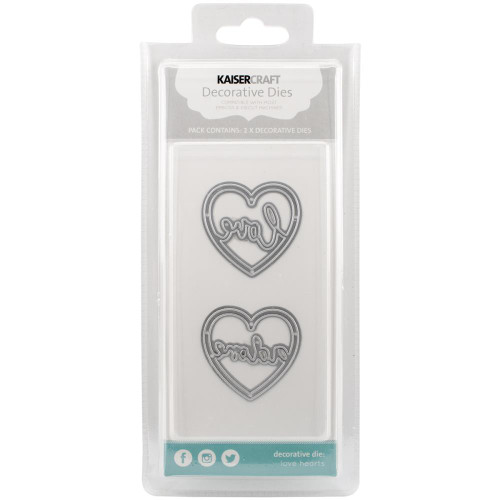 Kaisercraft Decorative Die: Love Hearts