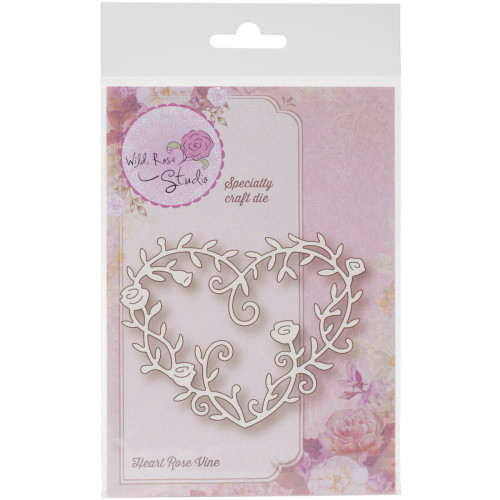Wild Rose Studio Die: Heart Rose Vine