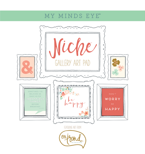 "CLEARANCE | My Mind's Eye Niche On Trend Foiled Frameables Gallery Art Pad 12""X12"""
