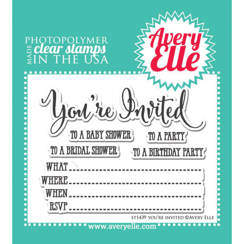Avery Elle Clear Set: You're Invited